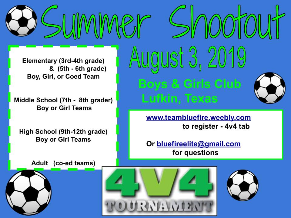 BLUE FIRE ELITE SOCCER CLUB - 4v4 Tournament